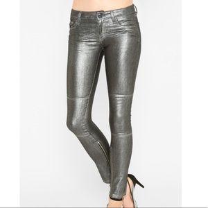 NWT BCBG Generation metallic skinny jeans size 24